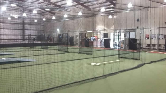 Climate controlled 17 000 sq foot baseball softball for Design indoor baseball facility